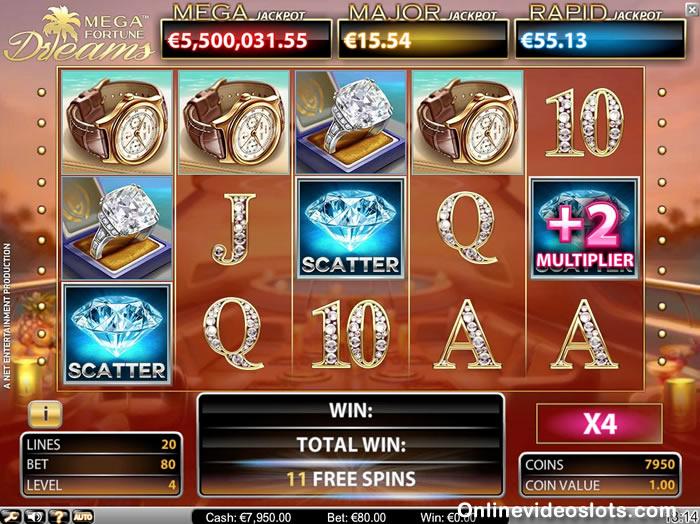 mega fortune dreams free spins
